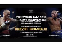 V.i.p George groves v's Eubank Jr tickets