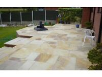 NEW 22MM PREMIUM GRADE FOSSIL MINT INDIAN SANDSTONE PAVING.