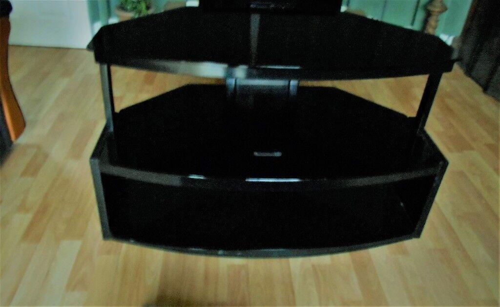black glassTV unit