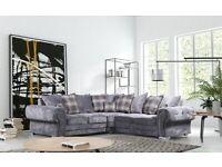 Brand new Verona corner sofa in grey fast delivery