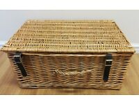 Large Picnic Hamper/Storage With Buckles and Handle Like New