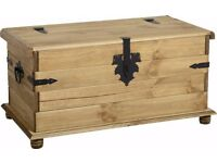 New Solid Cheap Corona Mexican Pine Trunk Storage Coffee Table, Blanket Box  £109 IN