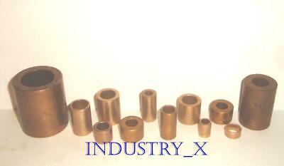 Oilite Bronze Bushing - Pick Your Size Quantity - Oil Lite Brass