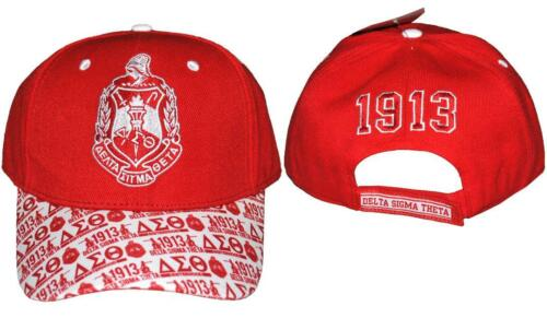 Delta Sigma Theta Sorority Hat with Detailed Bill-New!