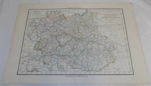 1820 Antique COLOR Hand-Colored Map///AUSTRIAN EMPIRE