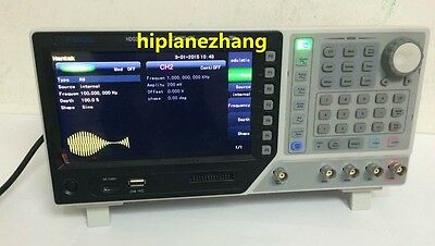 2ch 100mhz 250mss Function Signal Arb. Waveform Generator Usb 7tftlcd Hdg2102b