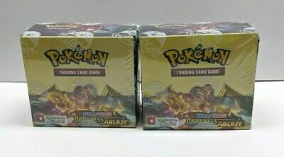Pokemon Sword & Shield Darkness Ablaze Booster Box x2- Factory Sealed 72 Packs