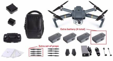 DJI Mavic Pro Fly More Combo Plus Extra Battery and Accessories