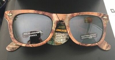 Ray Charles Sunglasses (Fall Transitions GREEN Camouflage FULL FRAME Ray Charles)