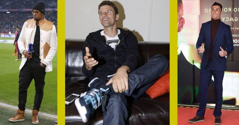 Sneaker statt Stollenschuhe: Boateng, Müller und Ronald Foto:Imago