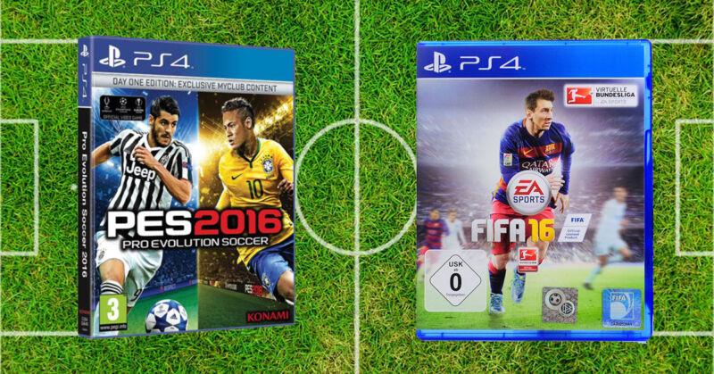 PES oder Fifa: Wer gewinnt das Battle um das beste Game? (© Konami / Electronic Arts)