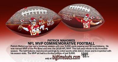 PATRICK MAHOMES ll  CHIEFS NFL MVP  ART FOOTBALL BY JOLENE JESSIE