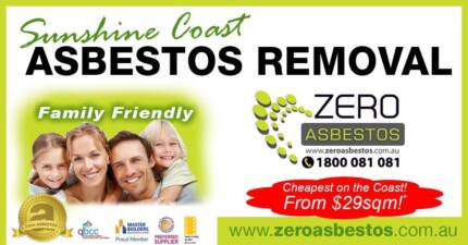 Gympie ASBESTOS Removal - From 29 p/sqm