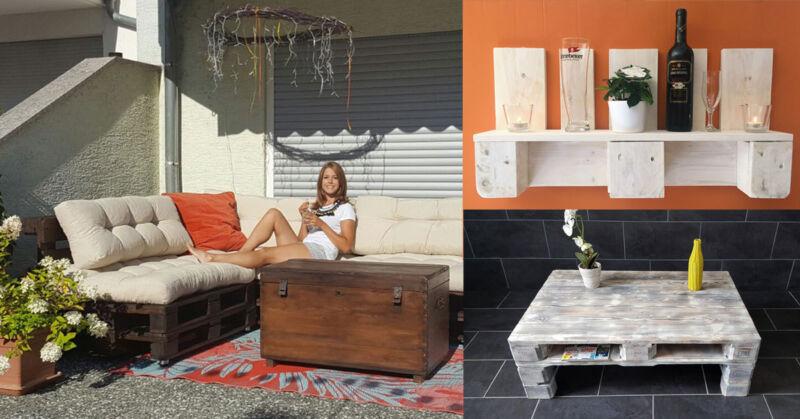 7 kreative m bel aus europaletten mit schritt f r schritt anleitung ebay. Black Bedroom Furniture Sets. Home Design Ideas