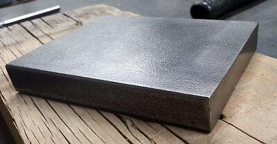 "5x4 STEEL BENCH BLOCK JEWELERS, Blacksmiths, METAL WORKING 3/4"" Thick"