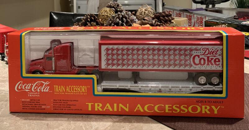 K-line Coca Cola Train Accesory Tractor Trailer Flatcar