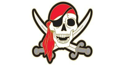 Jolly Roger Pirate Skull Swords Lapel Hat Pin USA SHIPPER