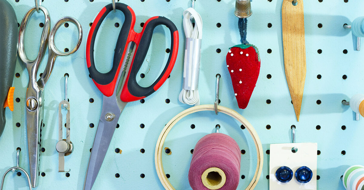 Use a Peg Board To Keep Things In Place
