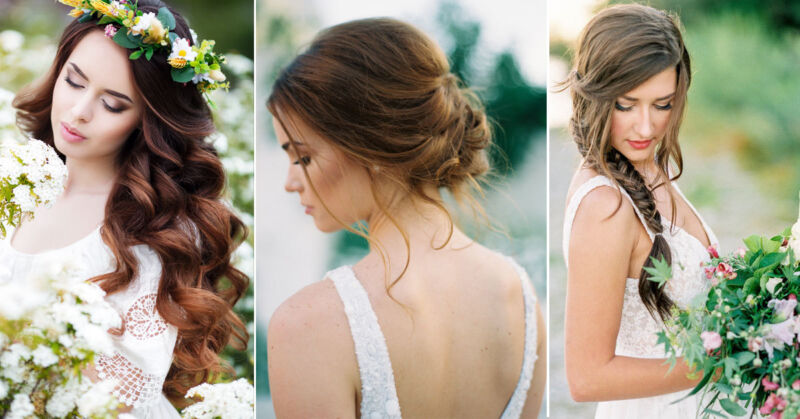 Die schönsten Brautfrisuren kannst Du in wenigen Minuten selber stylen! (© Thinkstock / Greer Gattuso / Alexandra Grace)