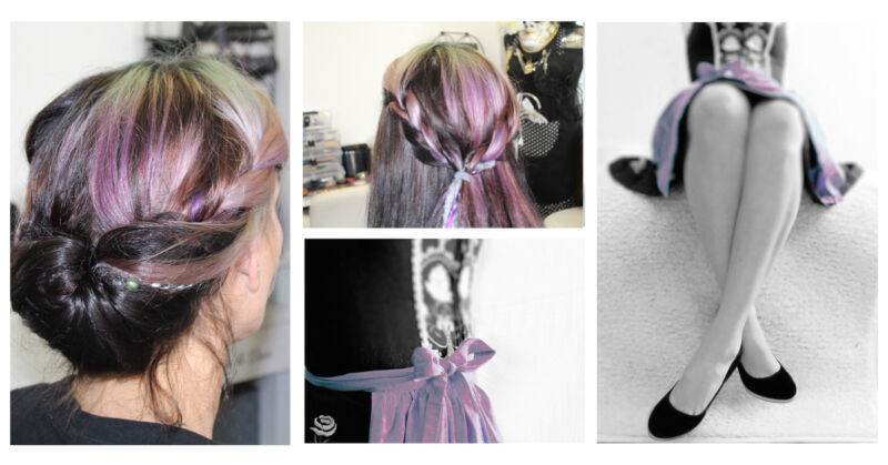 Bunte Haarsträhnen, farblich passend zum Dirndl, peppen Deinen Oktoberfest-Style gekonnt auf.