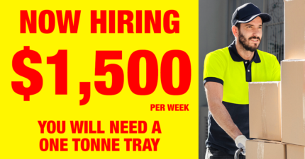 $1,500 PER WEEK - Tray Owner Driver Wanted Melbourne CBD Melbourne City Preview