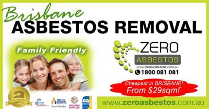 Brisbane ASBESTOS Removal CHEAP from 29 p/sqm