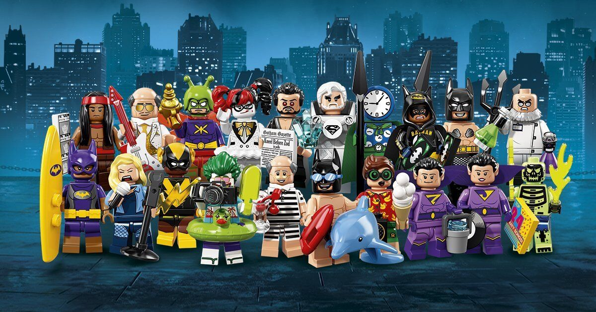 LEGO BATMAN MOVIE 71017 COMPLETE SET OF 20 MINIFIGURES NEW