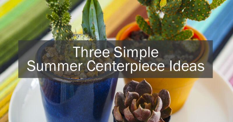 Simple summer centerpiece ideas ebay