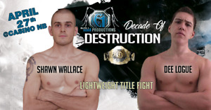 Live MMA @Casino NB in Moncton, NB