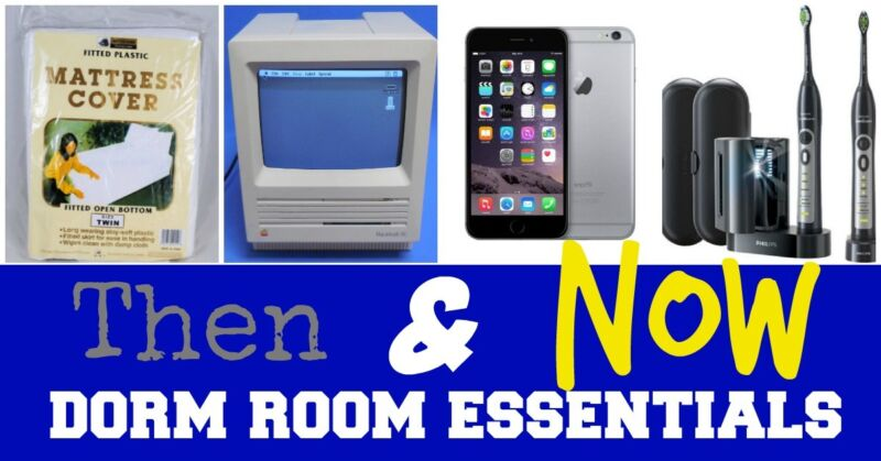 Then & Now: Dorm Room Essentials -- How did your 90s dorm room stack up against today's college dorm rooms?