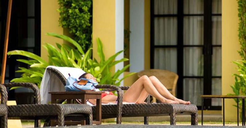 Abschalten im eigenen Outdoor-Bereich: Ruhezonen sind wichtig für ein Saunaerlebnis.