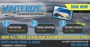 Secure Boat Storage, Shrink Wrapping & Winterizing