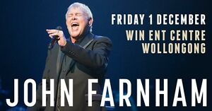 2 x John Farnham/Daryl Braithwaite tickets Fri 1 Dec Wollongong Evatt Belconnen Area Preview