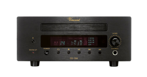 VINCENT CD-200 CD Player Black New Warranty Italy