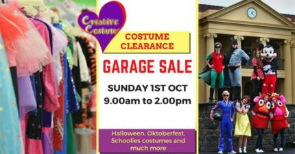 Costume Clearance Garage Sale