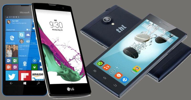 Diese Smartphones sind echte clevere Schnäppchen (© Microsoft / LG / THL)