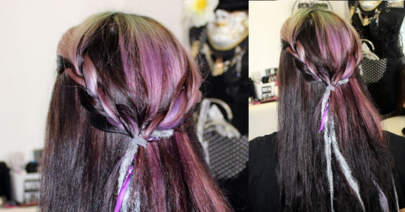 Romantisch und doch traditionell: Mit wenigen Handgriffen flechtest Du den Haarkranz.