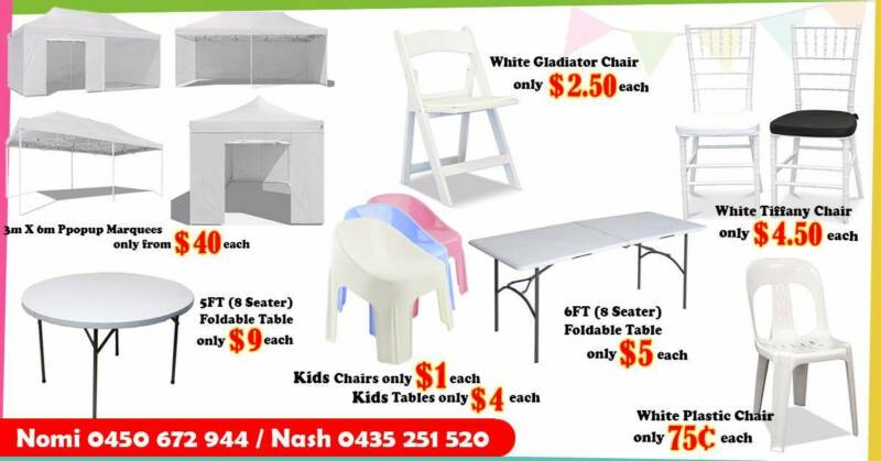... Chair Hire u2013 SYDNEY Sydney. 1 of 2  sc 1 st  Gumtree & 0.75c ex.GST - CHEAPEST HIRE - White Plastic Chair Hire u2013 SYDNEY ...