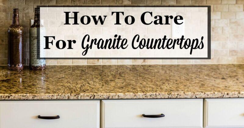 How To Care For Granite Countertops | EBay