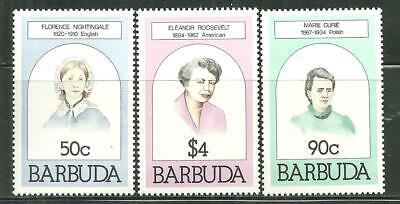 BARBUDA 474-75, 477 MNH FAMOUS WOMEN