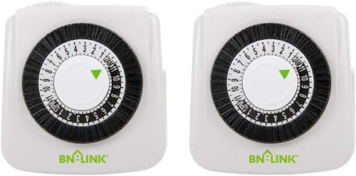Bn-LINK Indoor 24-Hour plug in Mechanical Outlet Timer Daily use, 2 Pack 2 prong