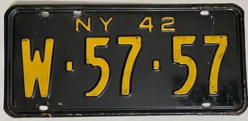 1942 NEW YORK License Plate - #W-5757