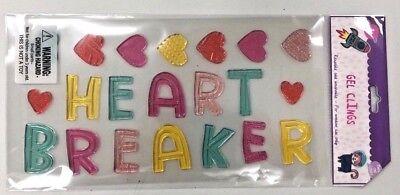 Heart breaker Valentine's Day  Window Gel Cling Decor classroom Love (Valentine Classroom Decorations)