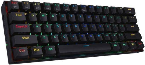 REDRAGON K530 Mechanical Keyboard, 61keys, RGB, BT, Brown Switches, Black, USED