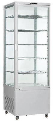 Omcan Rs-cn-0500 Vertical 18cf 26-wide Glass Refrigerated Cake Display Case New
