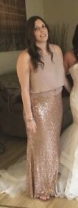 Two piece rose gold dress