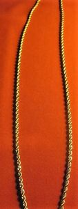 18K Gold Plated Rope Chain Men's Necklace chain