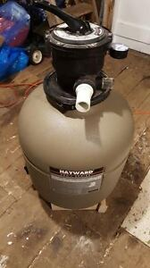 Pool Equipment; sand filter and skimmer.