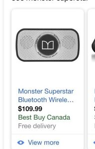 Monster Superstar wireless Bluetooth speaker.