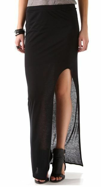 Side Slit Maxi-Skirt